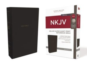 NKJV Comfort Print Deluxe Reference Bible, Super Giant Print, Imitation Leather, Black Image