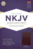 Holy Bible: New King James Version Super Giant Print Reference Bible, Burgundy, Imitation Leather Image